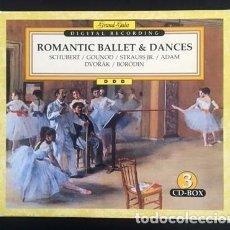 CDs de Música: ROMANTIC BALLET & DANCES - CAJA CON 3 CDS - SCHUBERT. GOUNOD, STRAUSS, BORODIN, DVORAK. Lote 134042530