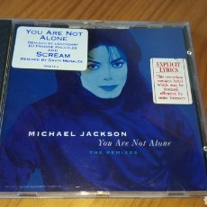 CDs de Música: MICHAEL JACKSON YOU ARE NOT ALONE AUSTRALIA. Lote 134068861