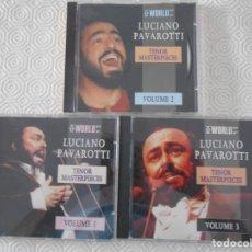 CDs de Música: LUCIANO PAVAROTTI. TENOR MASTERPIECES. 3 CD'S. . Lote 134070330
