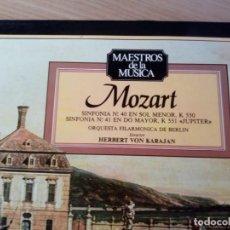 CDs de Música: DISCO DE VINILO DE MOZART SINFONIAS 40 Y 41. Lote 134075486