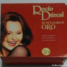 CDs de Música: ROCIO DURCAL (SUS 50 CANCIONES DE ORO - RANCHERAS, BOLEROS Y CANCIONES) 3 CD'S 2004. Lote 134094162