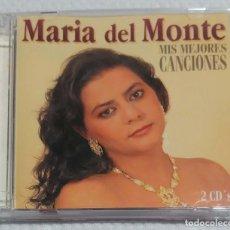 CDs de Música: MARIA DEL MONTE (MIS MEJORES CANCIONES) 2 CD'S 1995 HORUS * DIFICIL DE CONSEGUIR. Lote 134094270
