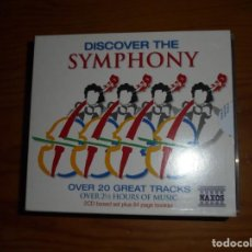 CDs de Música: DISCOVER THE SYMPHONY. 2 CD´S + LIBRO. VIVALDI, BACH, BRAHMS, MOZART.... IMPECABLES. Lote 134101934