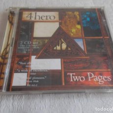 CDs de Música: 4HERO TWO PAGES 2 CD'S. Lote 134132566