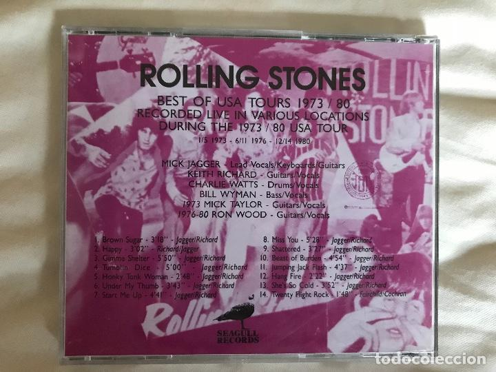 CDs de Música: THE ROLLING STONES - BEST OF USA TOUR 1973/1980 SEAGULL RECORDS [CD 031] - Foto 3 - 134186290