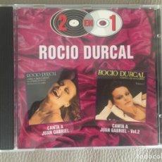 CDs de Música: ROCÍO DURCAL - CANTA A JUAN GABRIEL - 2 CD,S EN 1. Lote 134207062