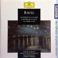 CDs de Música: MAURICE RAVEL – CLASSIKON 55: RAVEL: KLAVIERKONZERT G-DUR / GASPARD DE LA NUIT / MA MÈRE L'OYE. Lote 134230118