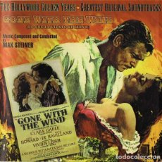 CDs de Música: MAX STEINER – GONE WITH THE WIND (LO QUE EL VIENTO SE LLEVO) (THE HOLLYWOOD GOLDEN YEARS - GREATEST. Lote 134233322