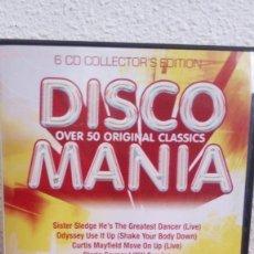 CDs de Música: DISCO MANIA BOX SET - 6 CDS COLLECTOR`S EDITION *IMPECABLE*. Lote 133420318