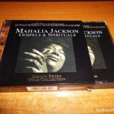 CDs de Música: MAHALIA JACKSON GOSPELS & SPIRITUALS CAJA CON 2 CD + LIBRO CON FOTOS INEDITAS GOLD COLLECTION BOX. Lote 134358198