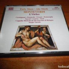CDs de Música: MONTEVERDI L´ORFEO 2 CD 1997 ALEMANIA CARMIGNANI PENNICCHI FRISANI PENTASUGLIA VACCARI BOX SET RARO. Lote 134433550