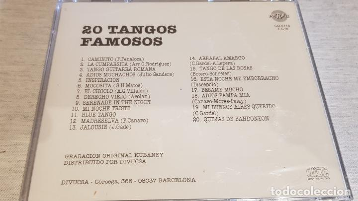 CDs de Música: 20 TANGOS FAMOSOS / ORQ. SERENATA TROPICAL Y VIOLINES DE PEGO / CD - KUBANEY-PERFIL / PRECINTADO - Foto 2 - 134511162