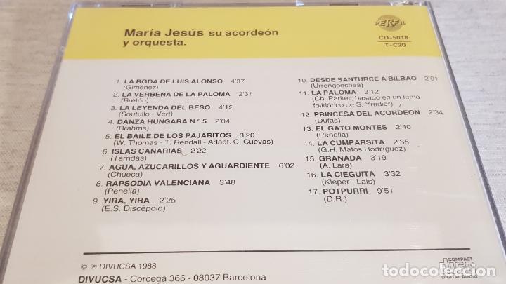 CDs de Música: MARÍA JESÚS / RECITAL DE ACORDEÓN / CD - PERFIL / 17 TEMAS / PRECINTADO. - Foto 2 - 134507574