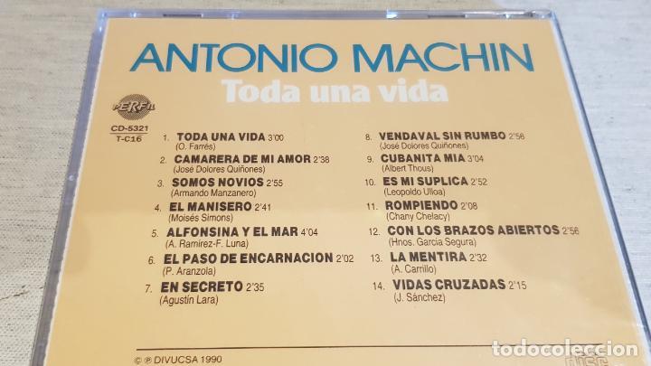 CDs de Música: ANTONIO MACHÍN. TODA UNA VIDA. CD / DIVUCSA - 1990. 14 TEMAS / PRECINTADO. - Foto 2 - 134520094