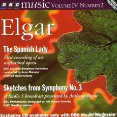 CDs de Música: ELGAR - THE SPANISH LADY - CD ALBUM - 22 TRACKS / 75 MINUTOS - BBC MUSIC - AÑO 1995. Lote 134542082