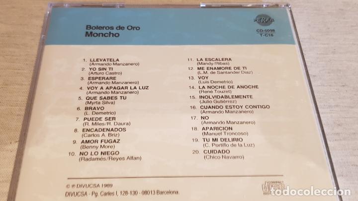 CDs de Música: MONCHO / BOLEROS DE ORO / CD - PERFIL / 20 TEMAS / PRECINTADO. - Foto 2 - 134542970