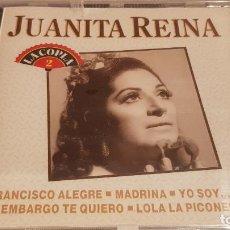 CDs de Música: JUANITA REINA/ LA COPLA 2 / CD / DIVUCSA-1991 / 10 TEMAS / PRECINTADO.. Lote 134545642