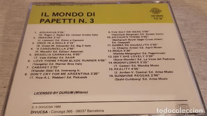 CDs de Música: IL MONDO DI PAPETTI Nº 3 / CD - PERFIL / 16 TEMAS / PRECINTADO. - Foto 2 - 134602462