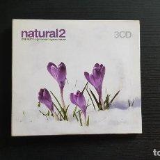 CDs de Música: NATURAL 2 - CHILL OUT / NU GROOVES / ORGANIC HOUSE - TRIPLE CD ALBUM - GRAN VÍA MUSICAL - 2003. Lote 134717038