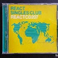 CDs de Música: REACT SINGLES CLUB - REACT CD 207 - CD ALBUM - PINNACLE - 2001. Lote 134753266