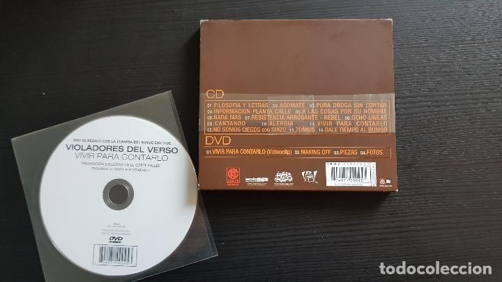 CDs de Música: VIOLADORES DEL VERSO - VIVIR PARA CONTARLO - CD + DVD + DVD PROMO EL CORTE INGLÉS - RAP SOLO - 2006 - Foto 2 - 134756838