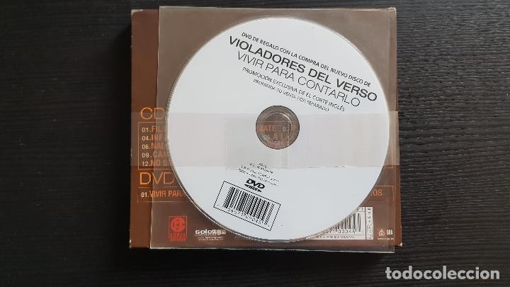 CDs de Música: VIOLADORES DEL VERSO - VIVIR PARA CONTARLO - CD + DVD + DVD PROMO EL CORTE INGLÉS - RAP SOLO - 2006 - Foto 3 - 134756838