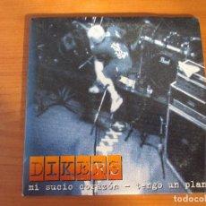 CDs de Música: DIKERS MI SUCIO CORAZÓN/ TENGO UN PLAN CD SINGLE PROMO 2003. Lote 181959382