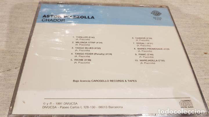 CDs de Música: ASTOR PIAZZOLLA / CHADOR / CD - PERFIL / 10 TEMAS / PRECINTADO. - Foto 2 - 134830318
