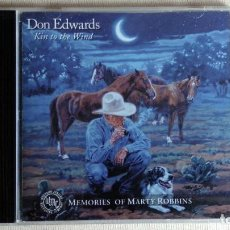 CDs de Música: DON EDWARDS - KIN TO THE WIND. MEMORIES OF MARTY ROBBINS - CD. DUALTONE. 2001. Lote 134857926