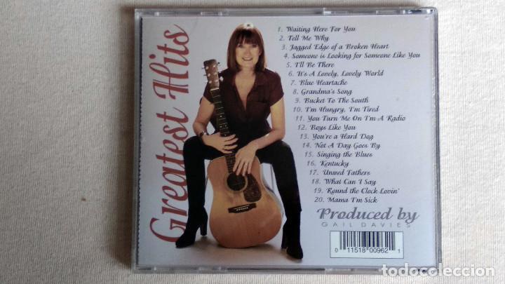 CDs de Música: Gail Davies - GREATEST HITS - CD. Litte Chickadee Records. Año 1995 - Foto 3 - 134861610