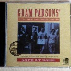 CDs de Música: FRAM PARSONS' INTERNATIONAL SUBMARINE BAND - SAFE AT HOME - CD. MAGNUM MUSIC. AÑO 1991. Lote 134868138