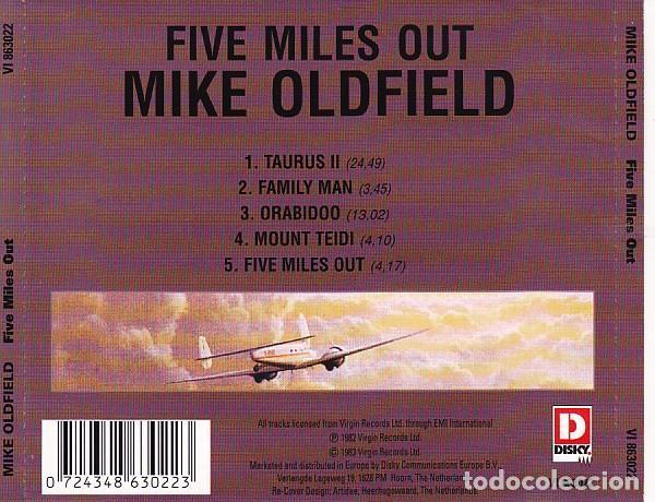 CDs de Música: Mike Oldfield ?– Five Miles Out (Netherlands, 1995) - Foto 2 - 134876098