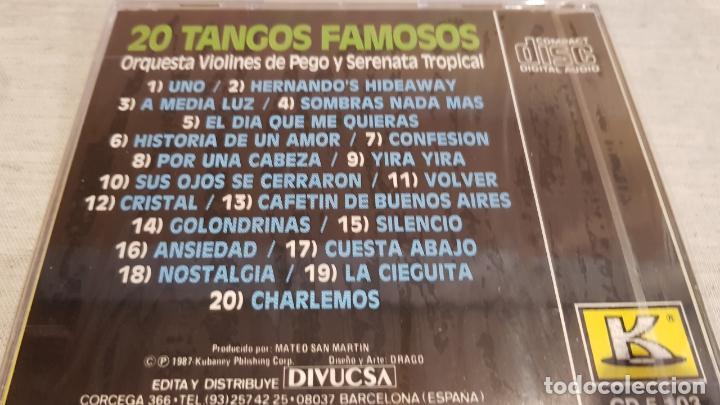 CDs de Música: ORQ. VIOLINES DE PEGO Y SERENATA TROPICAL / TANGOS FAMOSOS / CD - KUBANEY /20 TEMAS / PRECINTADO. - Foto 2 - 134904830