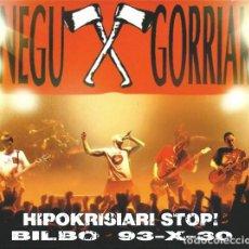 CDs de Música - Negu Gorriak – Hipokrisiari Stop! (Bilbo 93-X-30) [España, 2004] - 134908002