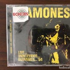 CDs de Música: RAMONES ?– LIVE...MONTEVIDEO...NOVEMBER... '94 SELLO: ECHOES (3) ?– ECHOCD2052 FORMATO: CD, ALBUM . Lote 134914362