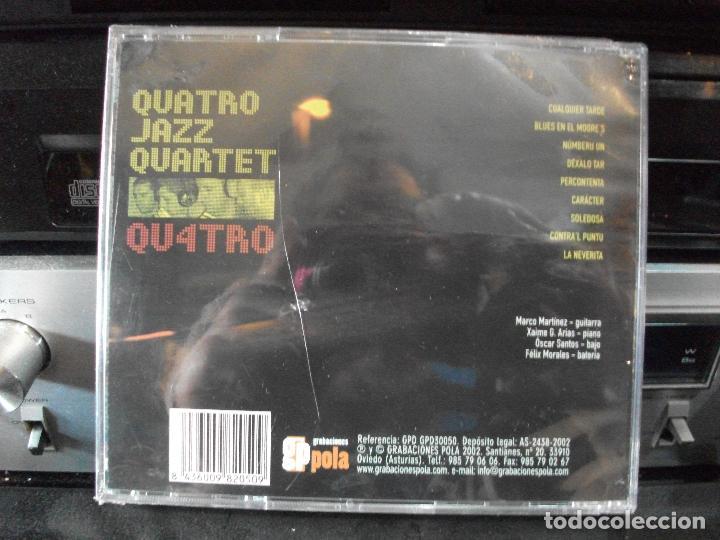 CDs de Música: quatro jazz quartert qu4tro cd album precintado jazz astur 2002 asturias GP PEPETO - Foto 2 - 134957210