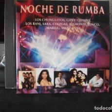 CDs de Música: NOCHE DE RUMBA - ARTISTAS VARIOS - CD ALBUM CHUNGUITOS ,LOS BANI , JUNCO , MARELU .. PEPETO. Lote 134957306