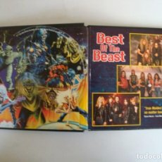 CDs de Música: IRON MAIDEN BEST OF THE BEAST - HARD CASE CAJA DURA CON 2 CDS + LIBRO. Lote 134983246