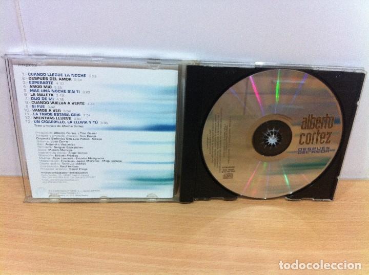 CDs de Música: CD DE ALBERTO CORTEZ - DESPUÉS DEL AMOR. DISCOS PITOKES, 2002 - Foto 3 - 51032005