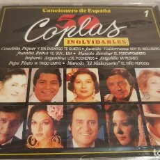 CDs de Música: CANCIONERO DE ESPAÑA / 50 COPLAS INOLVIDABLES / VOL. 1 / CD - DIVUCSA / 16 TEMAS / PRECINTADO.. Lote 134999346