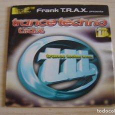 CDs de Música: FRANK T.R.A.X. - TRANCE TECHNO T.R.A.X. - CD, MIXED, PROMO - 1999 TEMPO MUSIC. Lote 135033314