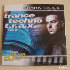 CDs de Música: FRANK T.R.A.X. - TRANCE TECHNO T.R.A.X. VOL. 2 - CD SINGLE PROMOCIONAL - TEMPO MUSIC. Lote 135034442