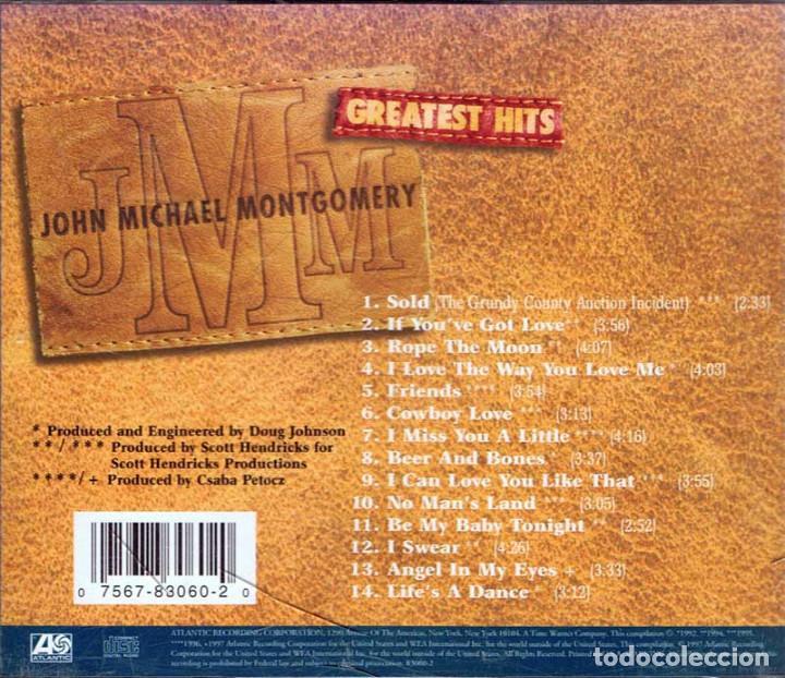 CDs de Música: John Michael Montgomery - Greatest Hits. CD. Atlantic Records - Foto 2 - 135100118