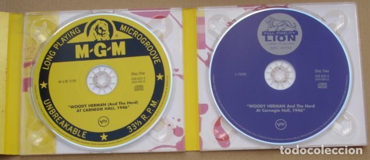 CDs de Música: WOODY HERMAN - AT CARNEGIE HALL, 1946 (2CD) 1999 - 23 TEMAS - DIGIPAK - Foto 3 - 135132074