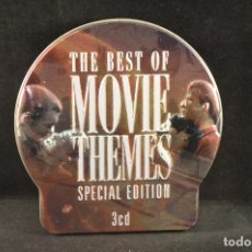 CDs de Música: THE BEST OF THE MOVIE THEMES - 3 CD CAJA METALICA. Lote 135149198