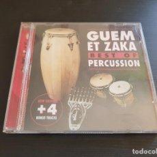 CDs de Música: GUEM ET ZAKA - BEST OF PERCUSSION - CD ALBUM - SARA RECORDS - 2000. Lote 135163294