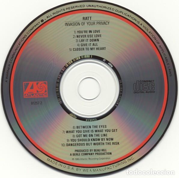 CDs de Música: Ratt – Invasion Of Your Privacy (US, sin fecha) - Foto 3 - 135164054