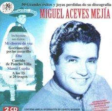 CDs de Música: DOBLE CD ÁLBUM: 50 GRANDES ÉXITOS DE MIGUEL ACEVES MEJÍA - RAMALAMA MUSIC 2005. Lote 135350486