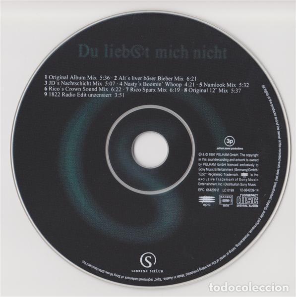 CDs de Música: Sabrina Setlur – Du Liebst Mich Nicht (Germany, 1997. CD, Maxi-Single) - Foto 4 - 135366978