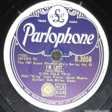 CDs de Música: DISCOS 78 RPM - THE KING COLE TRIO - I´M LOST - LET´S SPRING ONE - JAZZ - PIZARRA. Lote 135397638